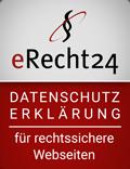 eRecht24 Datenschutzsiegel